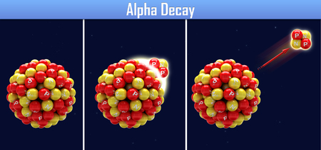 alpha: Alpha Decay Stock Photo
