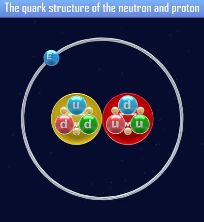 quark: The quark structure of the neutron and proton