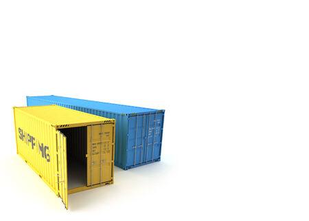 Versandcontainer Standard-Bild - 28902594