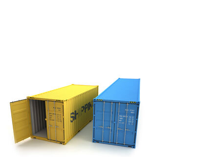 Shipping Container Stock Photo