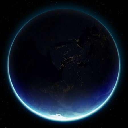 3D Planet Earth.  Stock Photo
