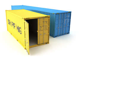 cargo container: Shipping Container Stock Photo