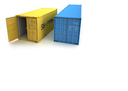 dockyard: Shipping Container Stock Photo
