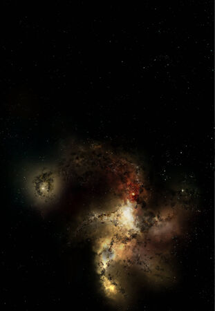 nebulous: Outer space with stars, nebula and galaxy