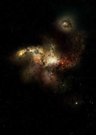 gaseous: Outer space, nebula
