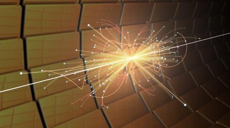 Particle Collision im LHC (Large Hadron Collider) Standard-Bild