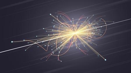 Particle Collision im LHC (Large Hadron Collider) Standard-Bild - 33450058