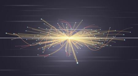 Particle Collision im LHC (Large Hadron Collider) Standard-Bild - 33450061
