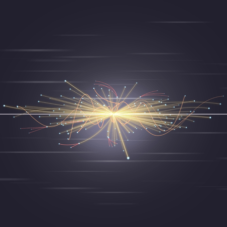 Particle Collision in LHC (Large Hadron Collider) Stockfoto