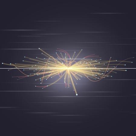 Particle Collision im LHC (Large Hadron Collider) Standard-Bild - 33450062