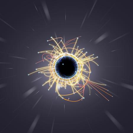 Particle Collision und Blackhole in LHC (Large Hadron Collider) Standard-Bild - 38842961