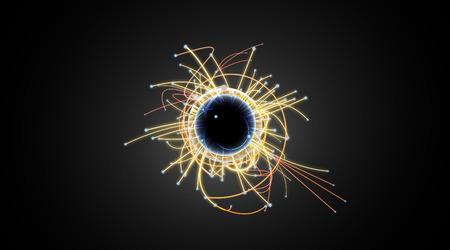 Particle Collision und Blackhole in LHC (Large Hadron Collider) Standard-Bild - 38843039