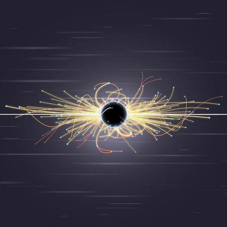 gamma: Particle Collision and Blackhole in LHC (Large Hadron Collider)