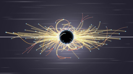 positron: Particle Collision and Blackhole in LHC (Large Hadron Collider)