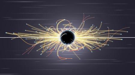 einstein: Particle Collision and Blackhole in LHC (Large Hadron Collider)