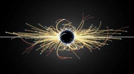 Particle Collision und Blackhole in LHC (Large Hadron Collider) Standard-Bild - 38843043