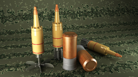 munition: Tank Cumulative Munition on a camouflage background