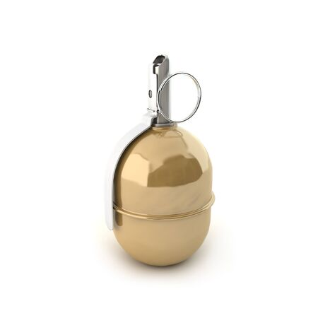 shrapnel: Grenade RGD-5 on a white background Stock Photo