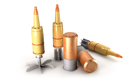 munition: Tank Cumulative Munition on a white background Stock Photo