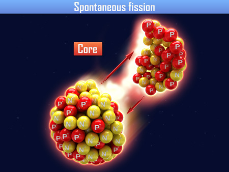 neutrino: Spontaneous fission very heavy of chemical elements