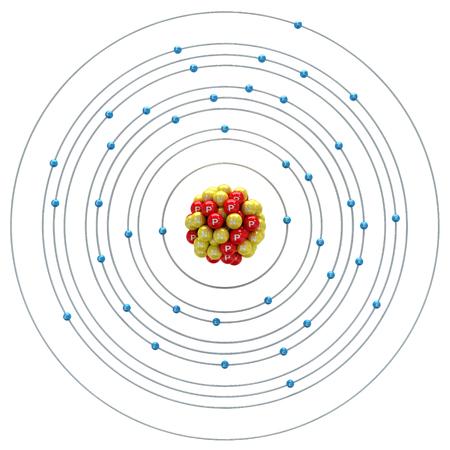 niobium: Niobium atom on a white background
