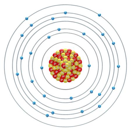 Niccolum atom on a white background