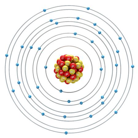 Krypton atom on a white background
