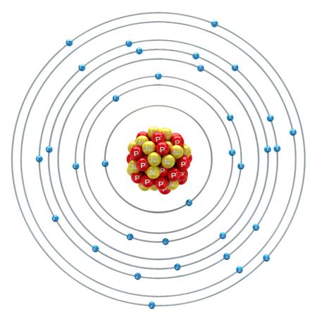 Selenium atom on a white background