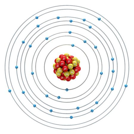 neutron: Germanium atom on a white background
