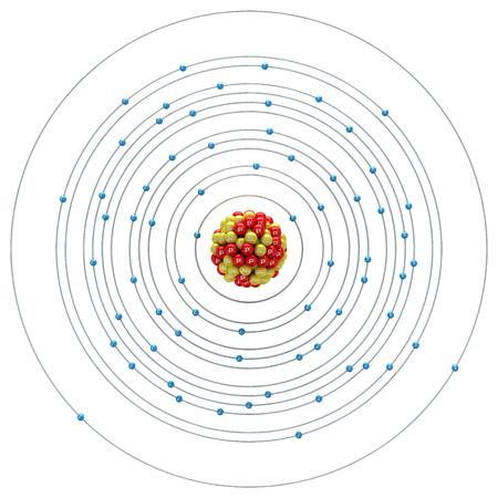 neutron: Erbium atom on a white background