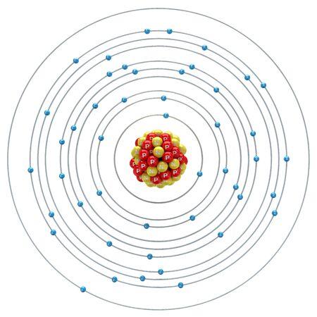 argentum: Argentum atom on a white background