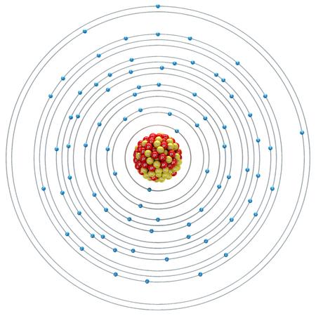neutron: Thallium atom on a white background