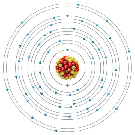 xenon: Xenon atom on a white background