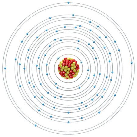 plumbum: Plumbum atom on a white background