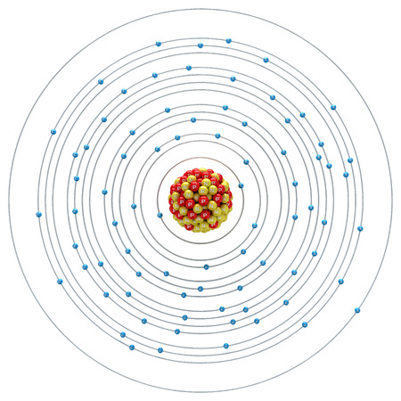 aurum: Aurum atom on a white background