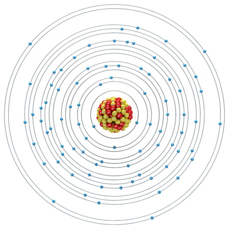 core strategy: Bismuthum atom on a white background Stock Photo