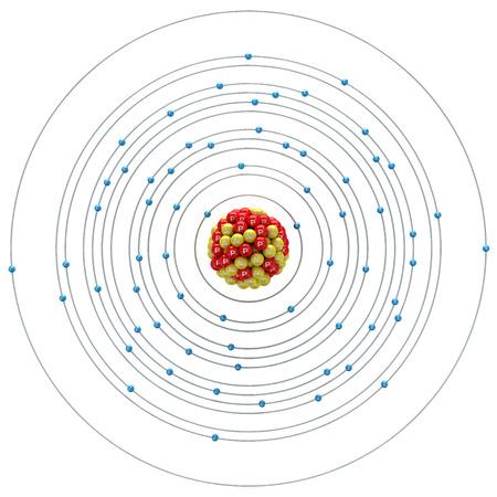 neutron: Terbium atom on a white background