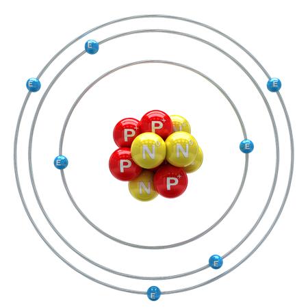 Stickstoffatom auf weißem Hintergrund Standard-Bild - 50574161