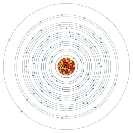 plutonium: Plutonium atom on a white background Stock Photo