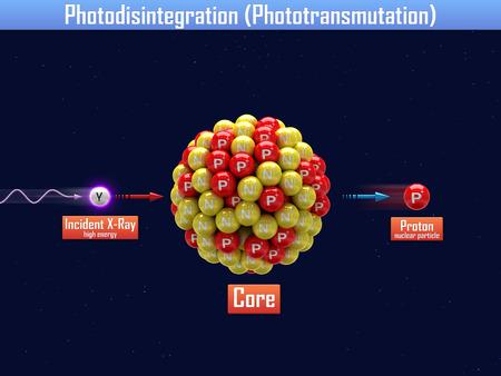heavy: Photodisintegration with heavy core