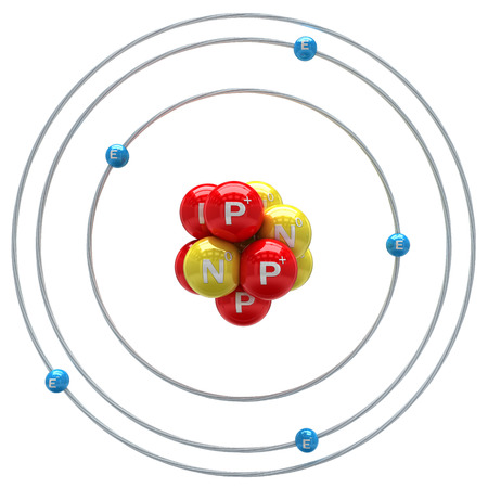 orbital: Boron atom on white background