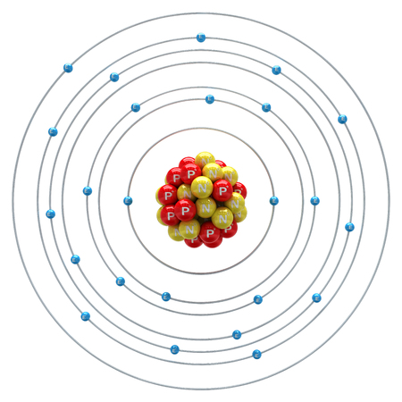 chromium: Chromium atom on a white background