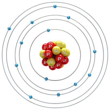 aluminium: Aluminium atom on a white background