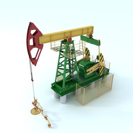Pumpjack(oil derrick) on a white (3d render)