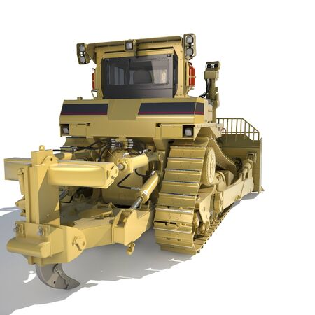 dozer: Heavy dozer on tracks (3d render)