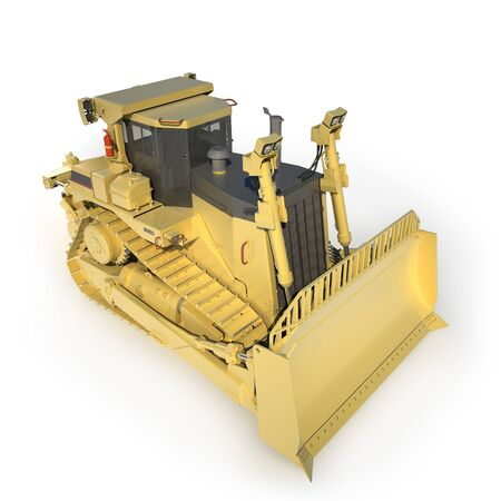 heavy: Heavy dozer on tracks (3d render)