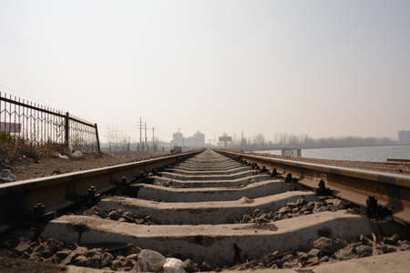 low angle views: railway