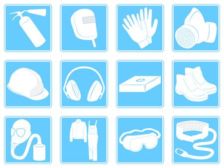 individual: Infographics individual safety equipment. Vector illustration Illustration