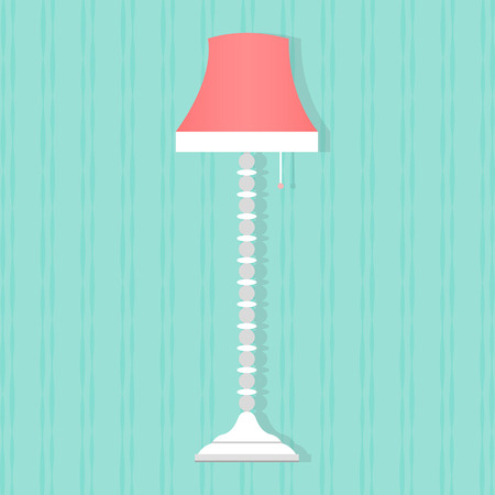lampshade: Flat style floor lamp icon. Vector illustration Illustration