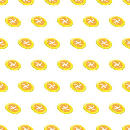 Seamless pattern summer beach frisbee background with template in swatches for your convenience. Easy to use. Cartoon flat style illustration. Illustration